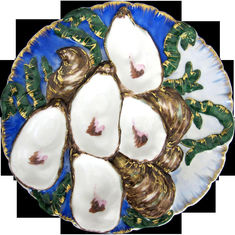 Antique Oyster Plate ~ Haviland Turkey  ~ Embellished!