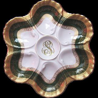 Antique Oyster Plate ~ Custom Ordered ~ Elegant!
