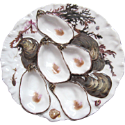 Antique Oyster Plate ~ Haviland ~ Marine Life!