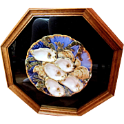 Custom Framed Antique PRESIDENTIAL Oyster Plate!