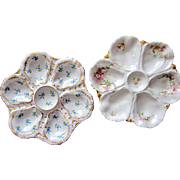 TWO Antique Oyster Plates ~ One money!  Bargain Time!