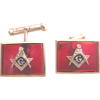 Vintage Masonic Cuff Links