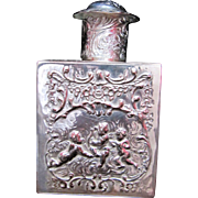Antique Silver Tea Caddy ~ Mint
