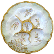 Fine Antique Oyster Plate ~ Elite