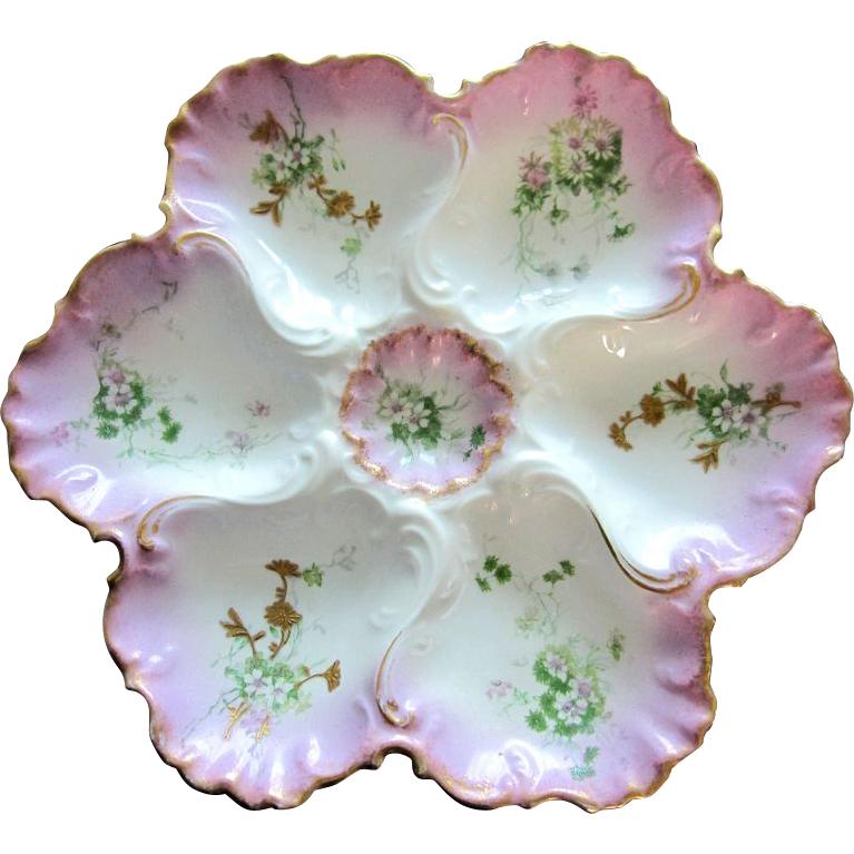 Splendid Antique Oyster Plate ~  Vultury Frères Limoges