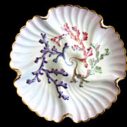 Antique Oyster Plate ~ Exquisite!