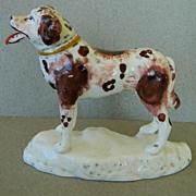 Antique Staffordshire Newfoundland Dog