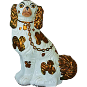 Antique Staffordshire Copper Lustre Dog #1