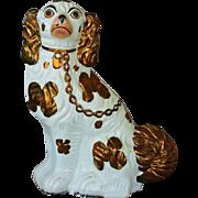 Antique Staffordshire Copper Lustre Dog #1