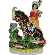 """Antique Staffordshire Figure - Titled """"Welch Goat"""""""