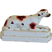 Antique Staffordshire Porcelain Hound