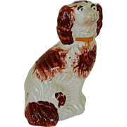 Antique Miniature Staffordshire Spaniel Dog