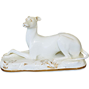 Rare Grainger Lee Worcester Porcelain Greyhound Dog C1820-37