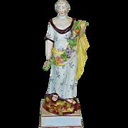 C1820 Large Staffordshire Pearlware Pottery Flora Figure