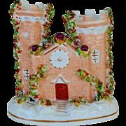 C1840 Antique Staffordshire Castle Pastille Burner
