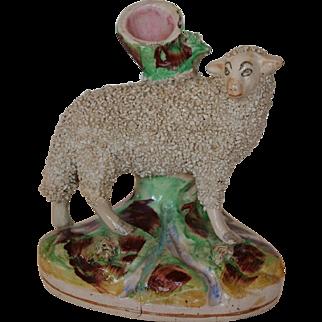 Victorian Staffordshire Ewe Spill Vase