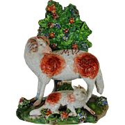 Early Antique Staffordshire Ram #2