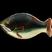 C1870 Antique Majolica Fish Platter
