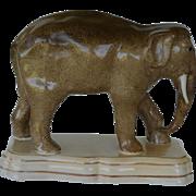 Large Antique Staffordshire Elephant C1860