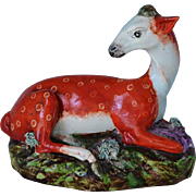 C1820 Staffordshire Pottery Pearlware Deer