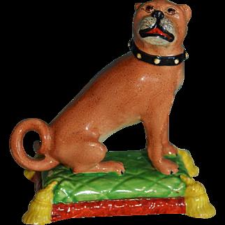 Early Staffordshire Pug Dog C1820