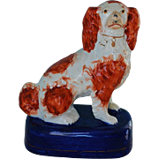 C1860 Antique Staffordshire Spaniel Dog
