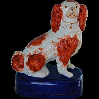 C1860 Antique Staffordshire Spaniel Dog