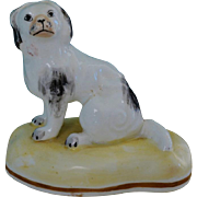 C1835-1840 Antique Porcelain Spaniel Dog By Samuel Alcock