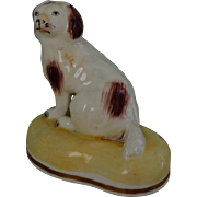 C1835-1840 Antique Porcelain Spaniel Dog By Samuel Alcock #2