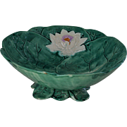 C1870 Victorian Majolica Water Lily Bowl By Joseph Holdcroft #2