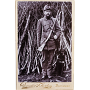 Cabinet Photograph ~ Hunter With Faithful Dog