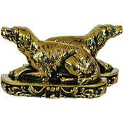 Victorian Brass Bookends ~ Recumbent Dogs