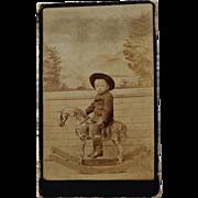 Antique CDV Photograph ~ Little Cowboy