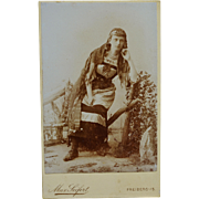 Antique CDV Photograph ~ Gypsy Woman