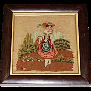 Victorian Woolwork ~ Needlework Little Bo Beep