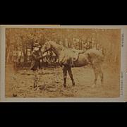 Antique CDV Photograph ~ British Horse And Rider
