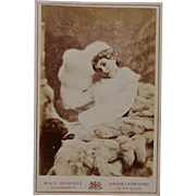 Antique Cabinet Photograph ~ Mary Cornwallis-West And Her Dog