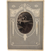 Antique Tintype Photograph ~ Couple With Their Dog