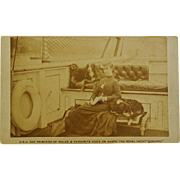 "H.R.H.Princess of Wales (Queen Alexandra) And Favourite Dogs On Royal Yacht ""Osborne"" CDV"