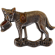 "WW1 French Red Cross Dog Fund Raising Pin ""L'Ami Des Poilus"""