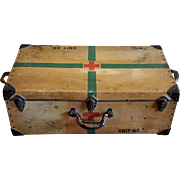 WW2 Red Cross Army Medic Storage Trunk