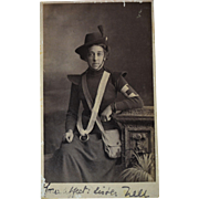 Large WW1  Red Cross Nurse Photograph