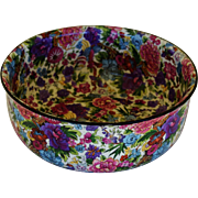 C1929 Crown Ducal Chintz Serving Bowl ~ Purple Chintz