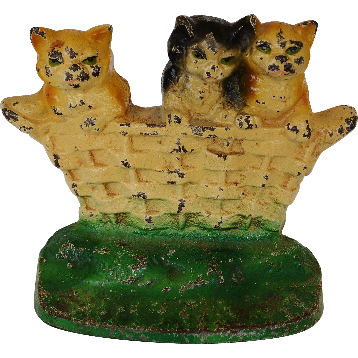 C1932 Rare Cast Iron Cat Doorstop Three Little Kittens From Antiquepooch On Ruby Lane