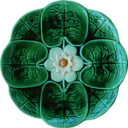 Joseph Holdcroft Majolica Water Lily Plate C1870