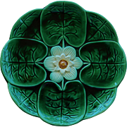 Joseph Holdcroft Majolica Water Lily Plate C1870 #2