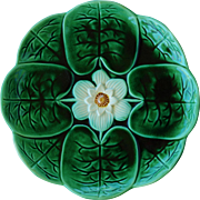 Joseph Holdcroft Majolica Water Lily Plate C1870 #3