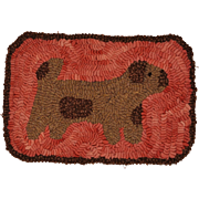 Vintage Woolwork Folk Art Dog