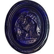 Victorian Glass Seal ~ Guardian Angel
