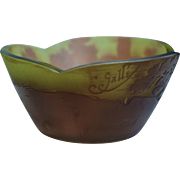 Antique Galle Bowl ~ Green Landscape With Trees
